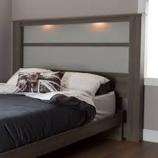 South Shore Bedroom Furniture South Shore Gloria King Headboard 78 With Lights Gray Maple