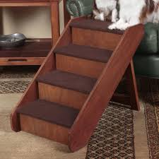 image of wooden pet stairs for tall beds
