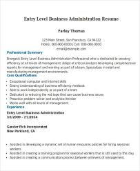 download - Business Administration Resume Examples