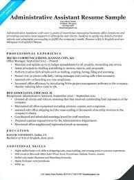 Admin Assistant Resume Sample Onedaystartsnow Co