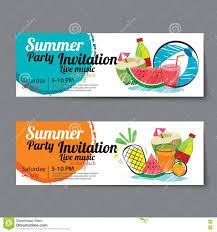 Party Tickets Templates Summer Pool Party Ticket Template Stock Vector Illustration Of 10