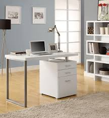... Modern White Computer Desk Office Laptopation With Drawer Home Decor  Wonderful Picture Inspirations 99 ...