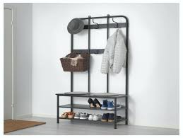 Shoe Rack And Coat Hanger Coat Rack With Shoe Storage Cushion Bench Metal Foyer Hall Tree 34