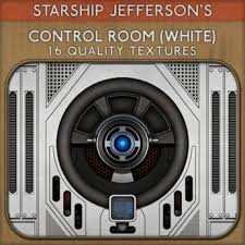 Second Life Marketplace SJ Control Room White Sci Fi Textures