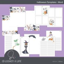 Word Halloween Templates Halloween Word Templates Plr Planners Build A Publishing Empire