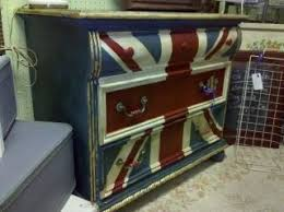 painted furniture union jack autumn vignette. Inspired By Miss Mustard Seed\u0027s Creation, I Decided To Try Painting A Union Jack Design On Dresser Found While Vacation (free). Painted Furniture Autumn Vignette 2