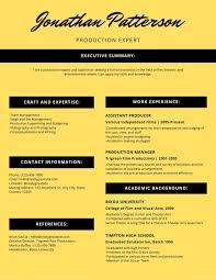 Modern Creative Resume Template Yellow Modern Creative Resume Templates By Canva