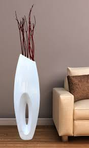 modern white large floor vase   inch  modern antique wooden