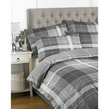 grey plaid king size duvet covers with tufted