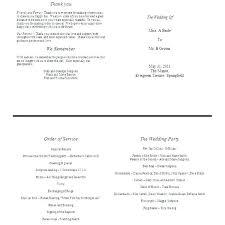 Ceremony Booklet Template Wedding Booklet Templates Ceremony Program