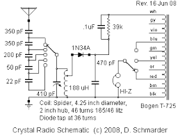dave s homemade radios crystal set 72 a great performing and easy dave s 72 crystal radio schematic