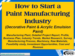 how to start a paint manufacturing industry decorative paint acrylic emulsion paint you