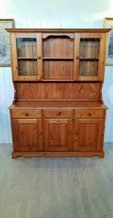 solid pine welsh dresser with glass doors nr2