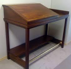 Image Wood Fired Mahogany Standing Desk Wood Gem Custom Cabinets Desks1 Wood Gem Custom Cabinets