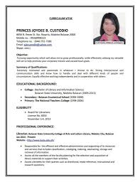 Simple Resume Template Malaysia Free Download | Resume Template