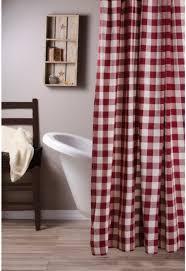 barn red buffalo check shower curtain