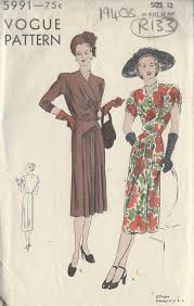 Vogue Dress Patterns Classy 48s Vintage VOGUE Sewing Pattern B48DRESS R48 The Vintage