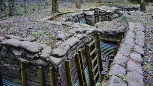 WW1 trenches recreated at the RAF Halton base.