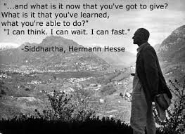 Siddhartha Quotes Gorgeous I Can Think I Can Wait I Can Fast Hermann Hesse [48x48
