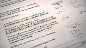drivers licence form completing the diab1 driving licence questionnaire form youtube