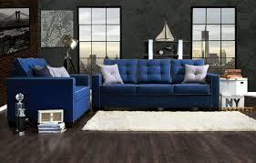 blue living room set. home living room 2 pcs laguna blue sofa set