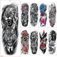 Velké Rameno Rukáv Tetování Vodotěsné Dočasné Tetování Nálepka Les