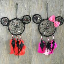 Mickey Mouse Dream Catcher Delectable Mickey And Minnie Mouse Dreamcatcher Mickey Mouse Accessory Etsy