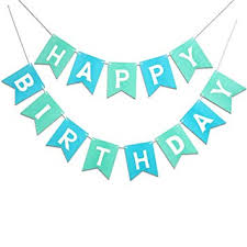Mint Blue Happy Birthday Banner Signs Birthday Party Supplies For Birthday Party Decorations Baby