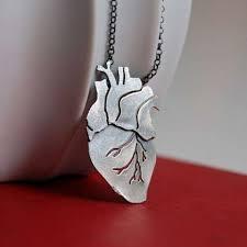 vital organ jewelery anatomical heart
