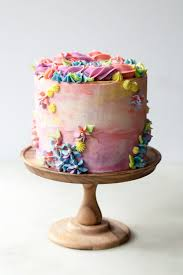 Pastel Buttercream Sprinkle Birthday Cake Style Sweet Ca