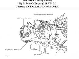 2001 buick century where is the egr valve located my info says top rear of engine near throttle body