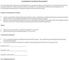 50 Unique Investors Contract Template – Template Free