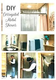 corrugated metal shower corrugated metal shower outdoor diy corrugated metal outdoor shower
