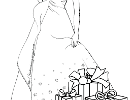 Barbie Princess Coloring Pages Free Printable Christmas Cartoon Many