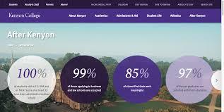 university websites top 10 design guidelines kenyon college after kenyon