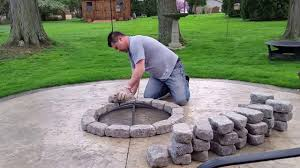 stamped concrete patio with fireplace. Build A Concrete Patio Firepit For 100 Bucks Stamped With Fireplace B