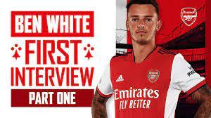 Ben White's first Arsenal interview ...