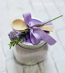 Decorating Mason Jars With Ribbon Bath Salts Lavender Mint Mason Jar Crafts Love 81