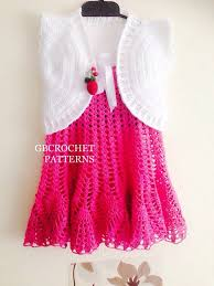 Baby Girl Dress Patterns Interesting Crochet Pattern Baby Dress Baby Girl Dress Pattern Take Etsy
