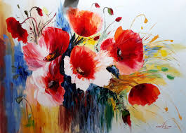red poppies 100x70cm oil painting flowers painting 70x100x2 cm