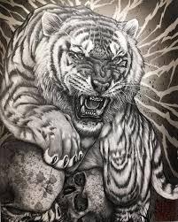 эскизы тигров значение татуировки с тигром большие кошки