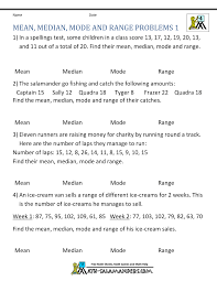 statistics problem solver online mean median mode range mean median mode range worksheets median mean mode and range problems 1 elementary statistics