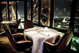 dining with eiffel tower view. the food was great but what you are really paying for (and certainly pay a lot it) is view and elegant dining. entire dinner experience took dining with eiffel tower