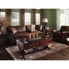 living room ideas leather furniture. klaussner alexander leather sofa u0026 chair set in pony brown living room ideas furniture e