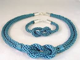 Design And Adorn Beading Studio Kumihimo Knot Necklace And Bracelet Set By