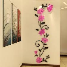 modern wall stickers for living room roses flower vine entrance hallway backdrop sticker modern crystal decorative
