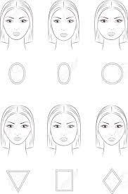 女性の顔のベクター イラストです異なる顔の形