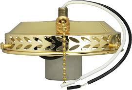 4 wired fan light holder w on off pull chain intermediate socket