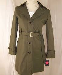 gallery petite military olive green trench coat wrap jacket p s petite small