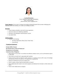 Format For Resumes For Job Resume Job Objective Samples Nousway